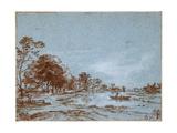 River Landscape by Moonlight, C. 1650-1660