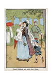 Paris Nursemaid Giving Her Charges Fresh Air in the Champs Elysees, C1890