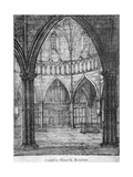 Interior View of Temple Church, Looking Towards the Organ, City of London, 1820