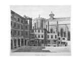 View of Temple Church, City of London, 1800
