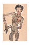 Nude Self-Portrait, Grimacing, 1910