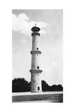A Minaret at the Taj Mahal, Agra, India, 1916-1917