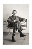 Marcel Breuer in the Wassily Chair, 1926
