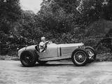 Kay Petre Driving a Riley, Autumn Hill Climb, Shelsley Walsh, Worcestershire, 1935