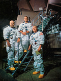 The Crew of Apollo 8 in Front of a Simulator, 1968