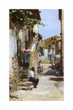 Street Scene, Taormina, Sicily, Italy, C1923