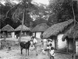 Family Outside their Home, Coolie Street, Kingston, Jamaica, 1931