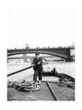 Lighter on the Thames Going Downstream Towards Southwark Bridge, London, C1905