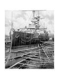 Japanese Warship Mikasa at Portsmouth Docks, England, 1904