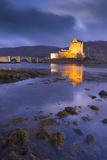 Eilean Donan Castle on Loch Duich at Twilight, Western Highlands, Scotland. Autumn (November)