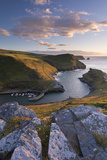 Boscastle Harbour from the Coast Path, Cornwall, England. Summer (August)