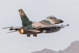 An Aggressor F-16C Fighting Falcon of the U.S. Air Force