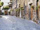 Italy, Tuscany. Streets Along the Small Medieval Town of Contignano