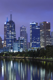 Australia, Victoria, Melbourne, Skyline Along Yarra River, Dawn