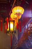 China, Hong Kong, Spiral Incense Sticks at Man Mo Temple