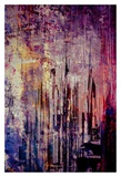 Abstract City Scene in pink