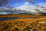Roundstone Bog and the Twelve Pins in Connemara, Ireland