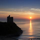 Sunset at Ballybunnion Castle, County Kerry, Ireland