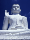 Large Seated White Buddha