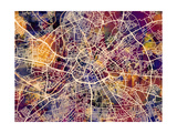 Manchester England City Street Map