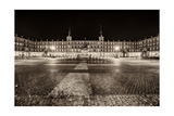 Plaza Mayor After Midnight, Madrid, Spain