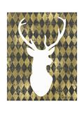 Gold Chalkboard Deer Head