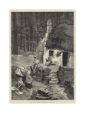 Isle of Man Sketches, a Manx Cottage