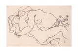 Two Embracing Female Nudes, 1918