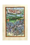 Hb V 52 Fol. 70V Illustration of the Battle of Lechfeld