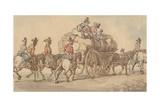 British Army Baggage Wagon and Escort, C.1800