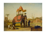 A Caparisoned Elephant - Scene Near Delhi (A Scene in the East Indies), 1832