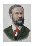 Otto Lilienthal (1848-1896). German Pioneer of Aviation.,1890. Colored