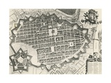 City Map of Turin with its Citadel, 1682, from Theatrum Is Statuum Sabaudiae, 17th Century