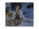 Circe (Enchantress), 1911, by Edmund Dulac (1882-1953), Lithograph, England, 20th Century