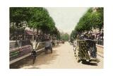 Boulevard Montmartre, Paris, 1900