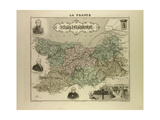 Map of Calvados 1896 France