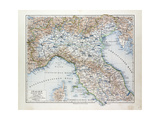 Map of North Italy 1899