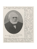 The Late Mr W H G Bagshawe, KC, Judge of County Courts