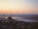 View of Suleymaniye Mosque, Built 1550-57, and the Bosphorous Beyond