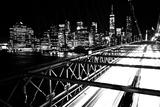 Brooklyn Bridge with Manhattan Skyline in the Background