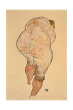 Female Nude Pulling Up Stockings, Rear View, 1918