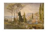 View from the Villa D'Este at Tivoli, 1839
