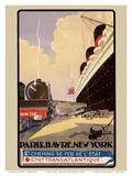 Paris - Havre - New York - Chemins de fer de l'Etat (French State Railways)