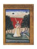Gauri Ragini, First Wife of Malkos Raga, Folio from a Ragamala (Garland of Melodies)