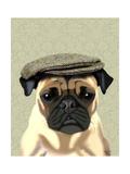 Pug in Flat Cap