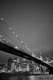 Brooklyn Bridge and Manhattan Skyline in the Background