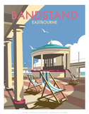 Eastbourne Bandstand - Dave Thompson Contemporary Travel Print