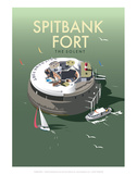 Spitbank Fort - Dave Thompson Contemporary Travel Print
