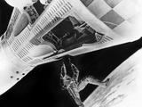 Astronaut David Scott Walking in Space Outside Gemini VIII Space Capsule 1966