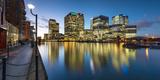 Canary Wharf at Dusk, Docklands, London, England, United Kingdom, Europe